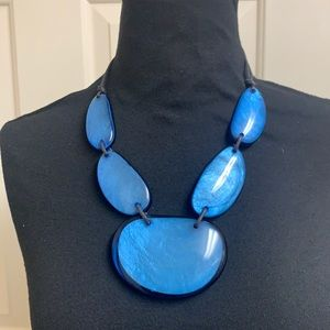 Blue necklace with matching bracelet